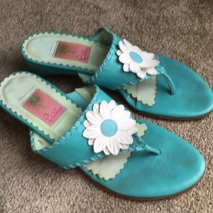 Lily Pulitzer leather Sandal 🌸☀️🌺